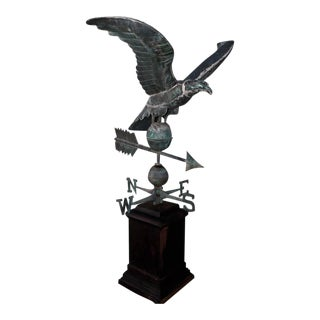19th Century Monumental Full Body Eagle Weather Vane