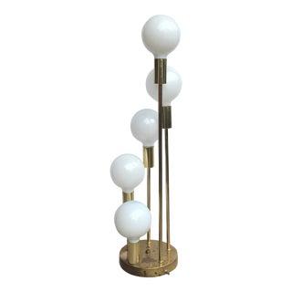 Mid-Century Modern Brass Clover Lamp