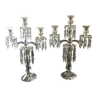 Antique Crystal Candelabras - A Pair