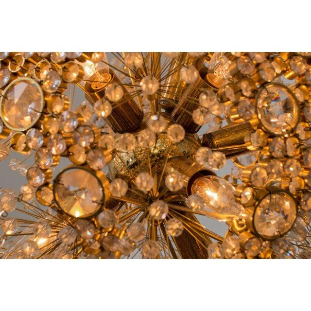 Gilt Brass J.L. Lobmeyr Chandelier - Image 7 of 9