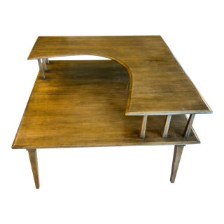Heywood Wakefield Tiered Corner Table