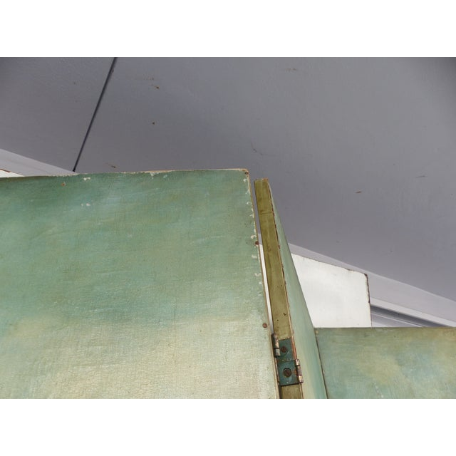 19th-C. Venetian Oil on Canvas Screen - Image 11 of 11