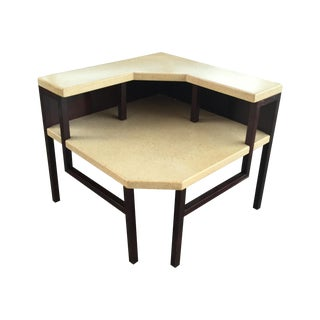 Two Tier Cork Corner Table by Paul Frankl