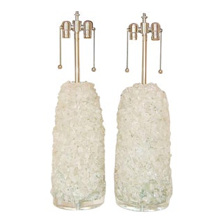Rock Candy Glass Lamps in Ice