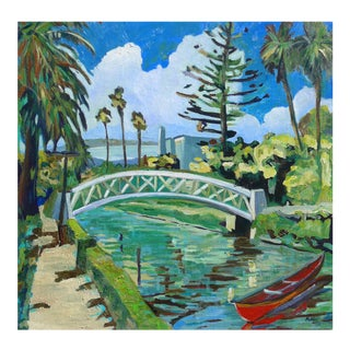 Venice Canal, California Oil Painting