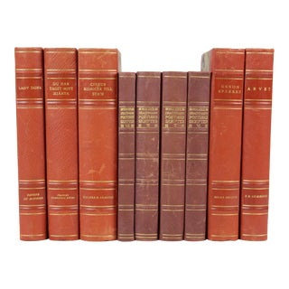 Leather-Bound Books - Set of 9