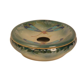 French Dragonfly Lidded Lusterware Bowl