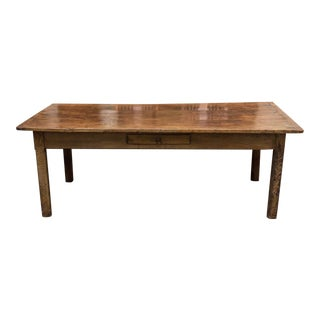 English Fruitwood Farm Table, circa 1840