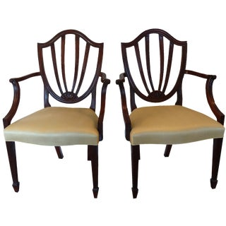 Baker Shield-Back Dining Chairs - A Pair
