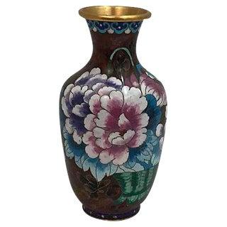 Pink Peony Cloisonné Vase