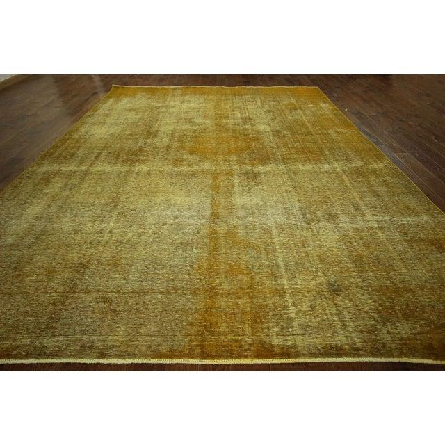 """Image of Gold Wash Overdyed Tabriz Rug - 9' 6"""" x 12' 5"""""""