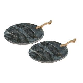 Sarreid Ltd. Marly Marble Plates - A Pair