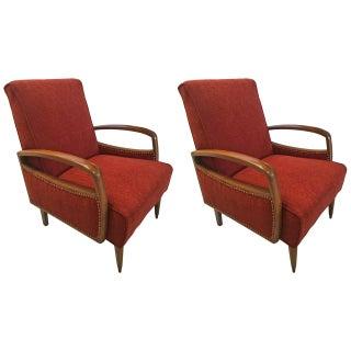 Austrian Art Deco Club Chairs - A Pair