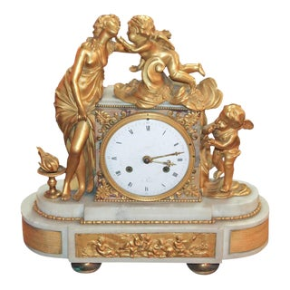 Fine French Louis XV Gilt Mantel Clock