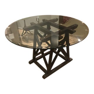 Hickory Chair Transitional Folmer Small Pedestal Table