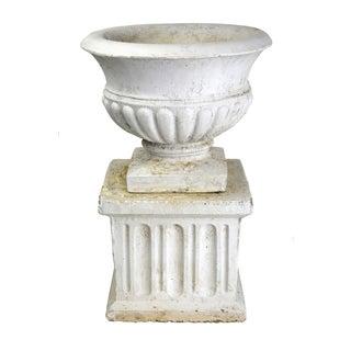 Vintage Garden Urn & Pedestal