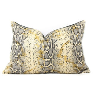 Italian Snakeskin Pillow