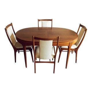Lane Rhythm Mid-Century Modern Dining Set - Set of 5