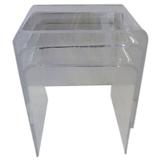 Lucite Nesting Tables - Set of 3