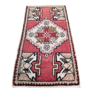 Vintage Turkish Carpet - 1′6″ × 3′1″