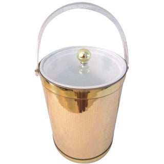Georges Briard Gold Mirrored Ice Bucket