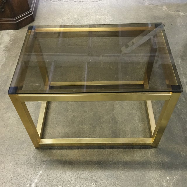Vintage Modern Brass Side Table - Image 3 of 6