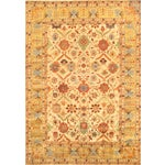 Image of Mahal Hand-Knotted Wool Ivory Area Rug - 8' x 10'
