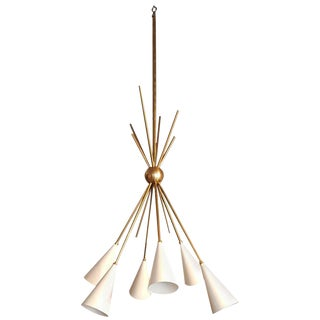 """""""Bouquet"""" Chandelier in Enamel and Brass by Studio Machina for Blueprint Lighting *Custom Colors*"""