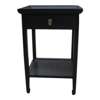 Black Elm Wood Tea Table