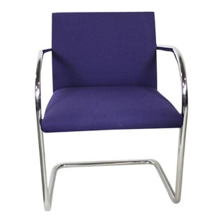 Knoll Brno Tubular Violet Side Chairs