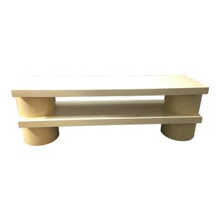 Cream Colored Two Level Console Table