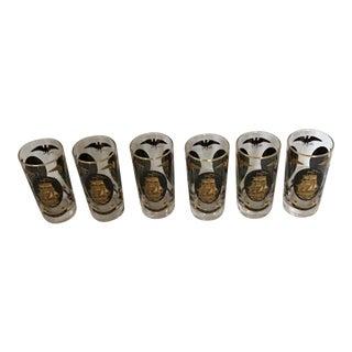 Tall Highball Tumblers Glasses USA 22k Gold - Set of 6