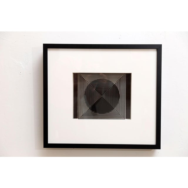 Four Original Victor Vasarely 3D Op Art Prints - Image 6 of 10