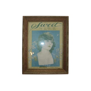 "Framed Vintage ""Sweet"" Sheet Music"