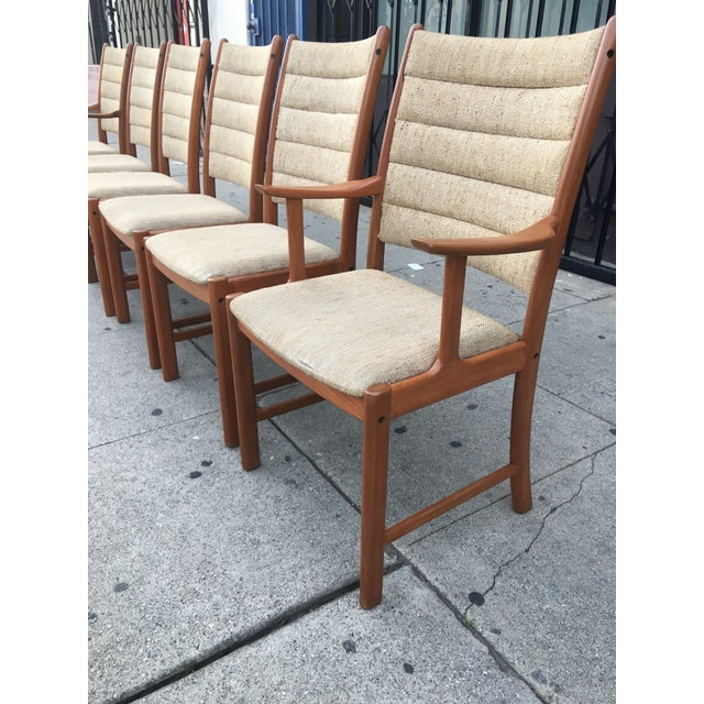 Danish Modern Teak Dining Chairs - Set of 6 - Image 9 of 11
