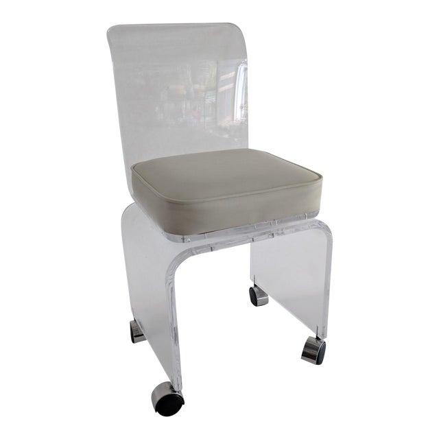 Lucite Vanity Swivel Stool / Chair - Image 1 of 8