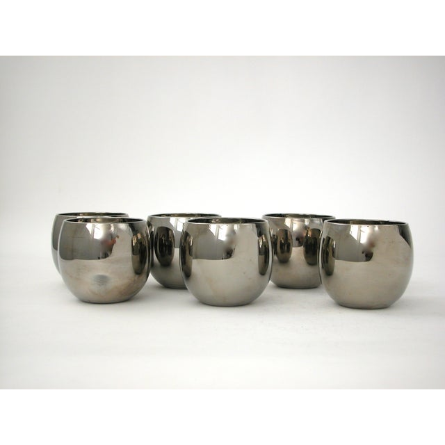 Mid Century Silver Glasses - 6 - Image 4 of 5