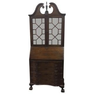 Antique Mahogany Drop Front Secretary Desk