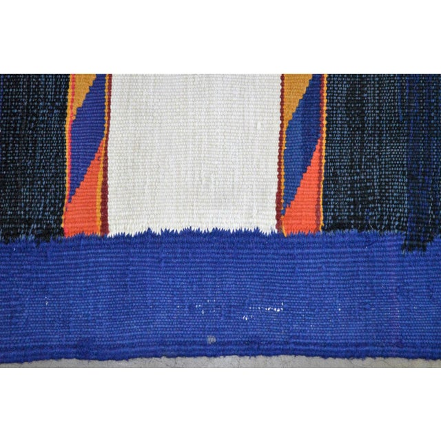 "Vintage Afghan Hand Knotted Kilim Rug - 6'7"" X 12'8"" - Image 7 of 10"