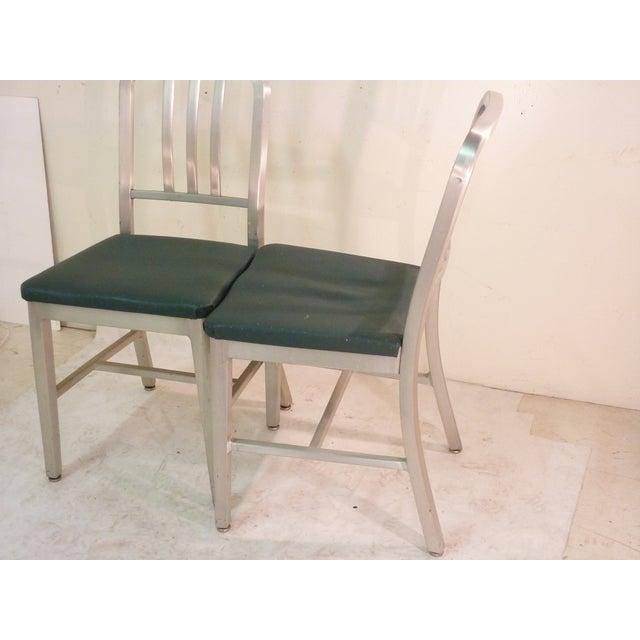 Image of Mid-Century Aluminum Chairs - Pair