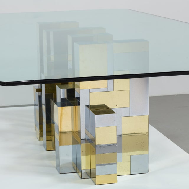 A Paul Evans Cityscape Pedestal Dining Table Base 1970s - Image 9 of 10