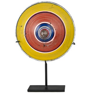 Vintage Indonesian Spinning Top on Stand