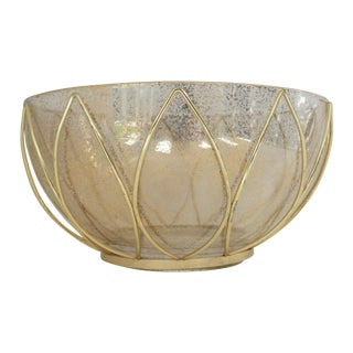 Mid-Century Speckled Glass Bowl