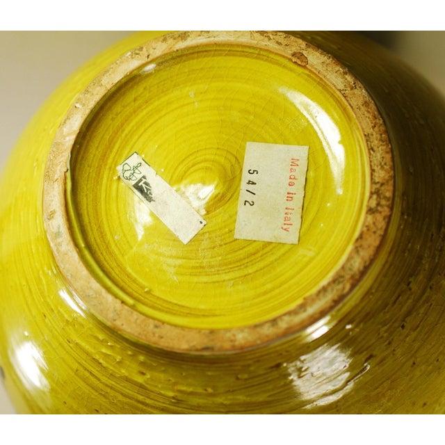 Mid Mod Bitossi Aldo Londi Yellow Pottery Vase - Image 4 of 8