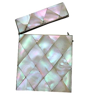 Antique French Mother-Of-Pearl Card Case