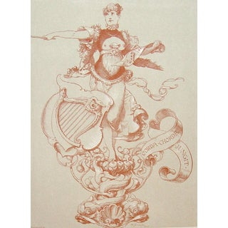 1890's Musical Allegorical Figure Lithograph