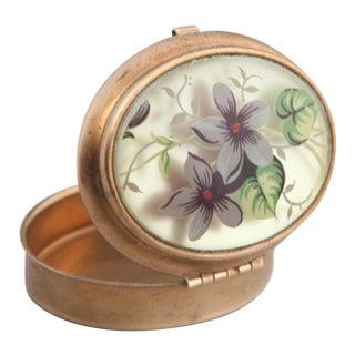 Vintage Violet Oval Trinket Box