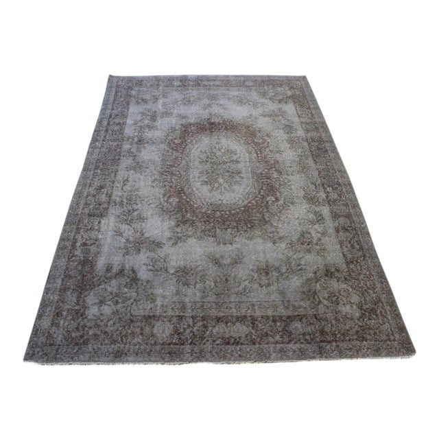 "Gray Turkish Overdyed Rug - 5'7"" X 9'5"" - Image 1 of 9"