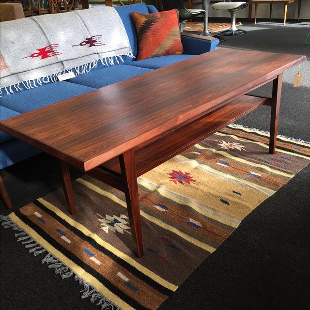 Danish Modern Rosewood Coffee Table - Image 3 of 8