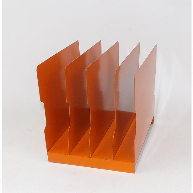 Orange Metal Desk Organizer - Image 6 of 9